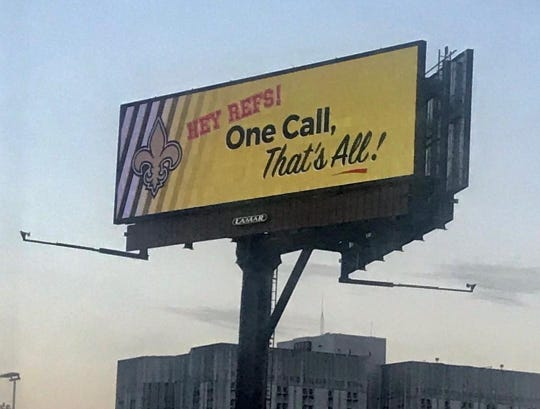 Louisiana attorney Morris Bart put up this billboard in New Orleans following Sunday's NFC Championship game.