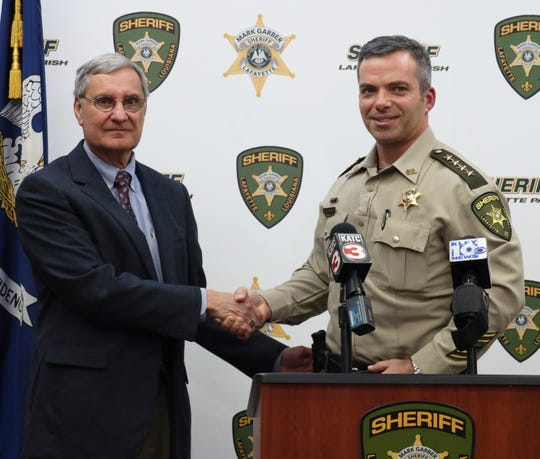 Lafayette Parish Superintendent Donald Aguillard and Lafayette Parish Sheriff Mark Garber.