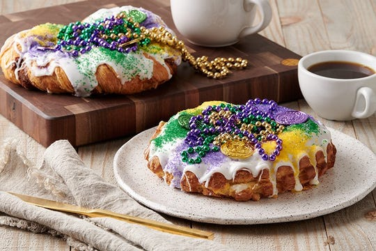 King cakes are pictured at The Fresh Market.