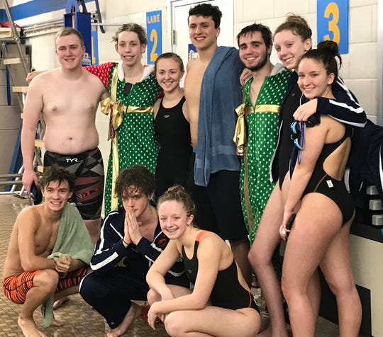 Members of the Galion swim program include two still unwrapped Christmas presents in Weston Rose (left) and Alec Dicus.