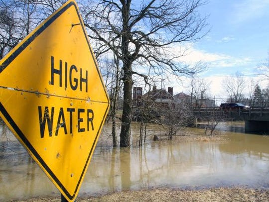 High water has been reported on multiple roads in the county.