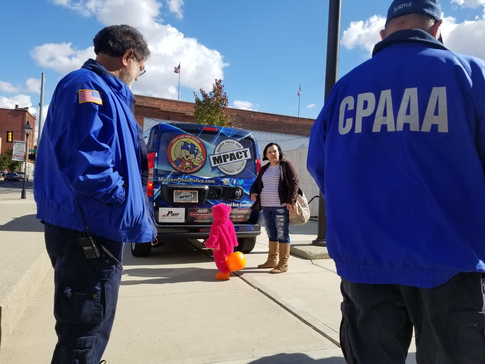 The CPAAA members are available to assist with community events, such as representing the police department during trick or treat. Members escorted Safety Pup to Garfield Elementary and assisted with Downtown Marion's trunk or treat event.