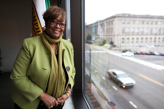 Greater Memphis Chamber interim leader Beverly Robertson at their downtown office on Wednesday, Jan. 23, 2019.