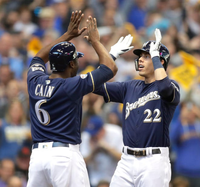 Lorenzo Cain and Christian Yelich exceeded expectations as the Brewers came within one game of the World Series last  season.