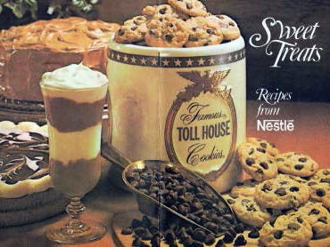 Nestle chocolates were promoted in this recipe booklet.