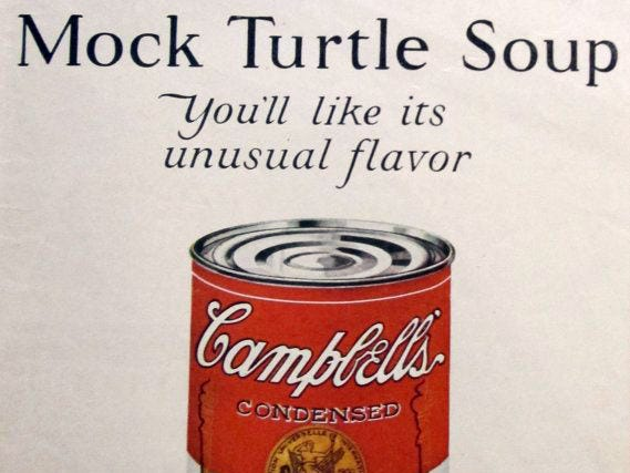 This unusual soup from Campbell's was promoted in a 1928 ad.