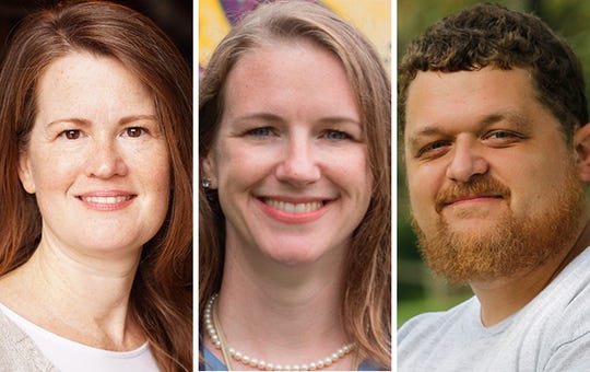 MPS board candidates (from left) Kathryn Gabor, Megan O'Halloran, Derek Beyer.