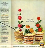 Flower pot sandwiches were a creative, if bizarre way to promote the use of mayonnaise.