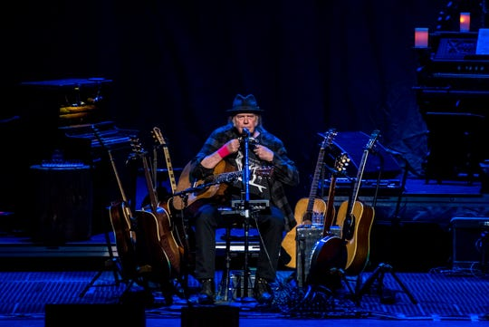 Neil Young kicked off a five-night solo tour Wednesday at the Riverside Theater in Milwaukee.