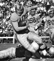 "Elroy ""Crazylegs"" Hirsch played for the Los Angeles Rams in the NFL."