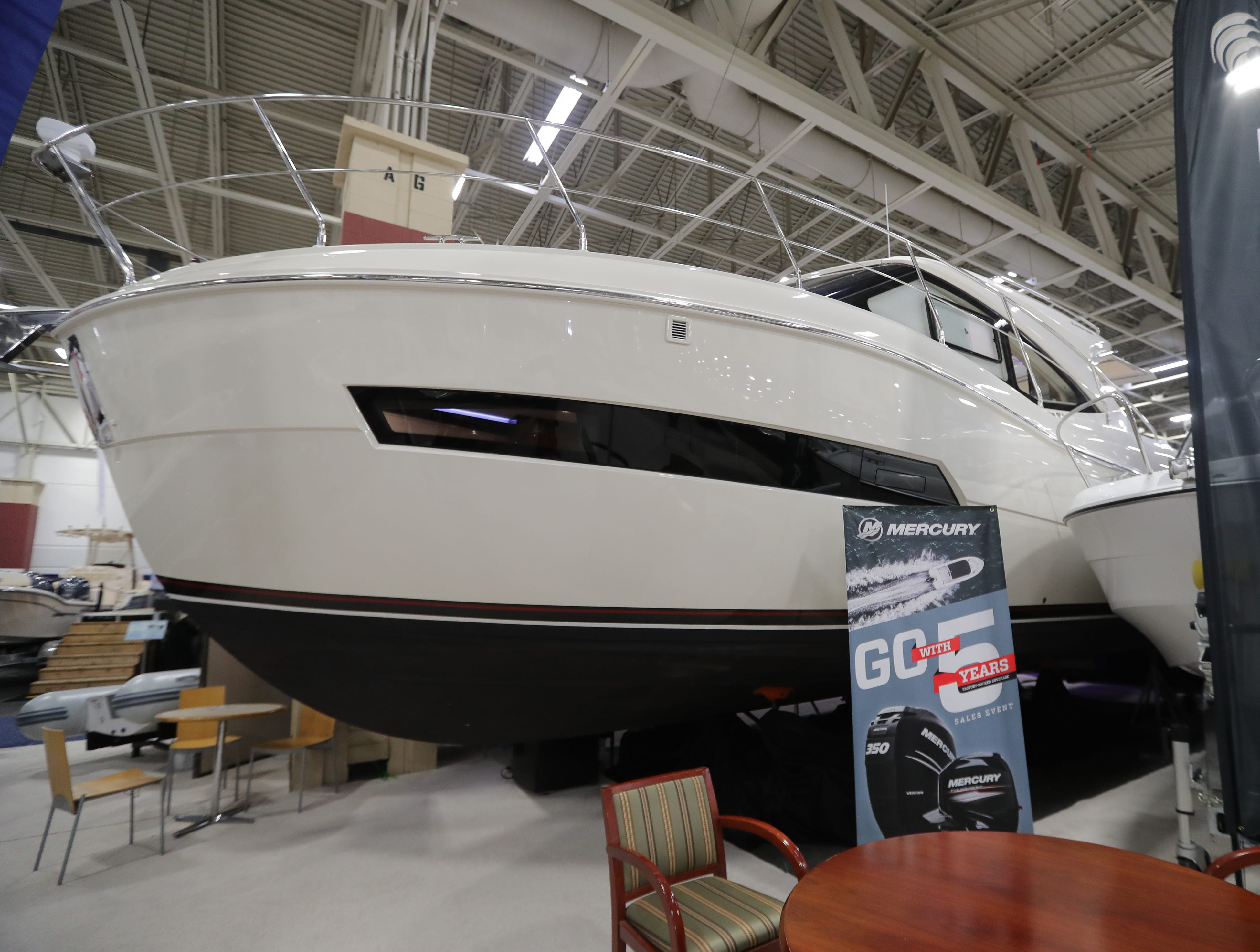 A 2019 37-foot Carver yacht, which lists for   $459,000.