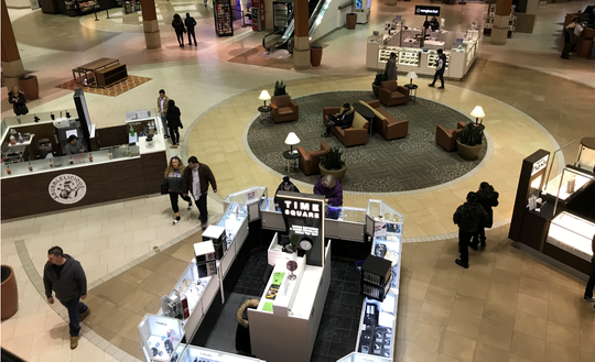 Customers visit the Southridge Mall on a winter Thursday evening in early 2019.