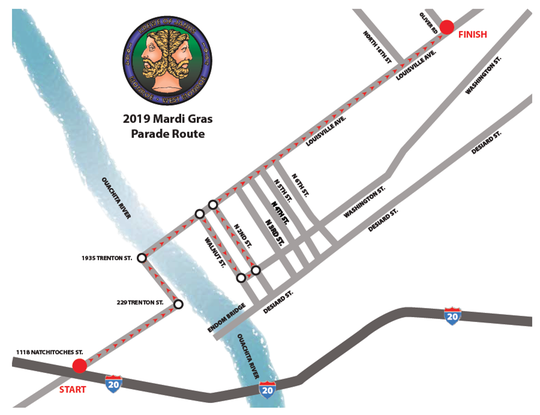 2019 Krewe of Janus Parade Route