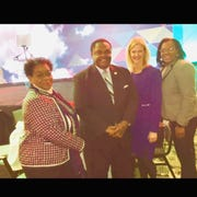 Planning & Urban Development Director Ellen Hill; Mayor Jamie Mayo; American Beverage Association President and CEO Katherine Lugar ; and Community Development Director Jawaun Hill were at the U.S. Conference of Mayor's 87th Winter Meeting in Washington, D.C.  on Thursday.