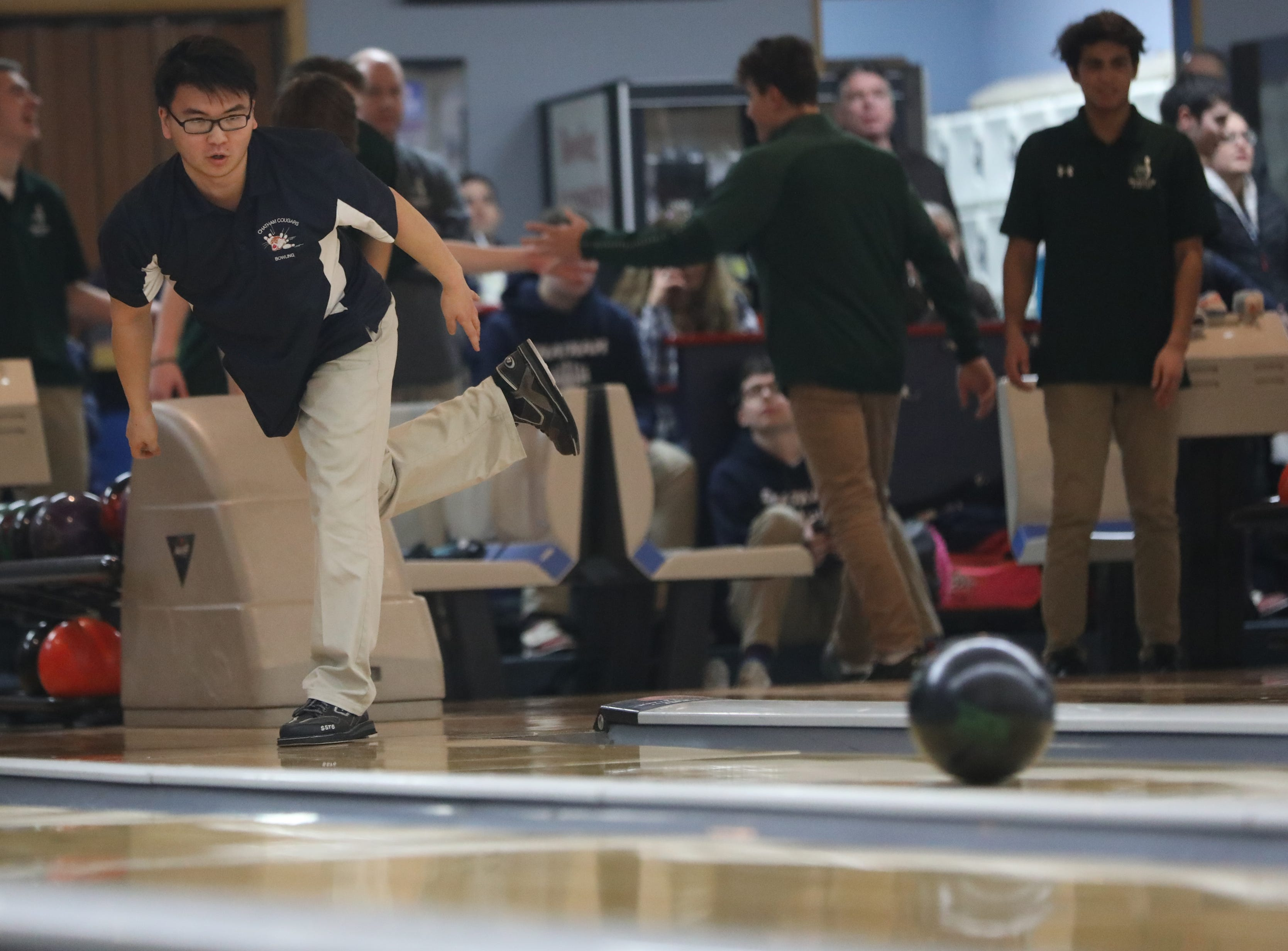 Isaac Im, of Chatham, competes at the Morris County Bowling Tournament, in Rockaway. Thursday, January 24, 2019