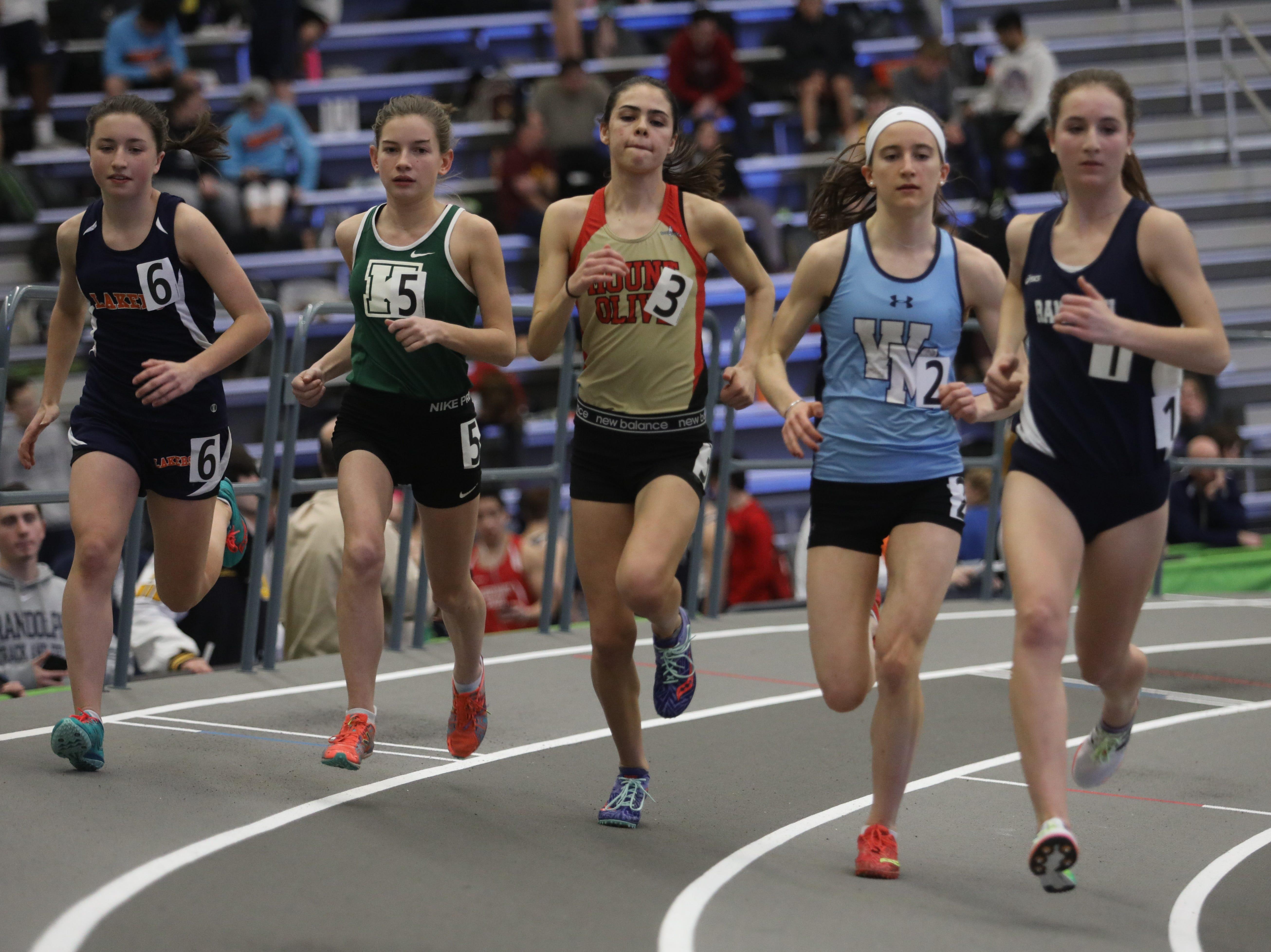 The start of the girls 1600 meter run.