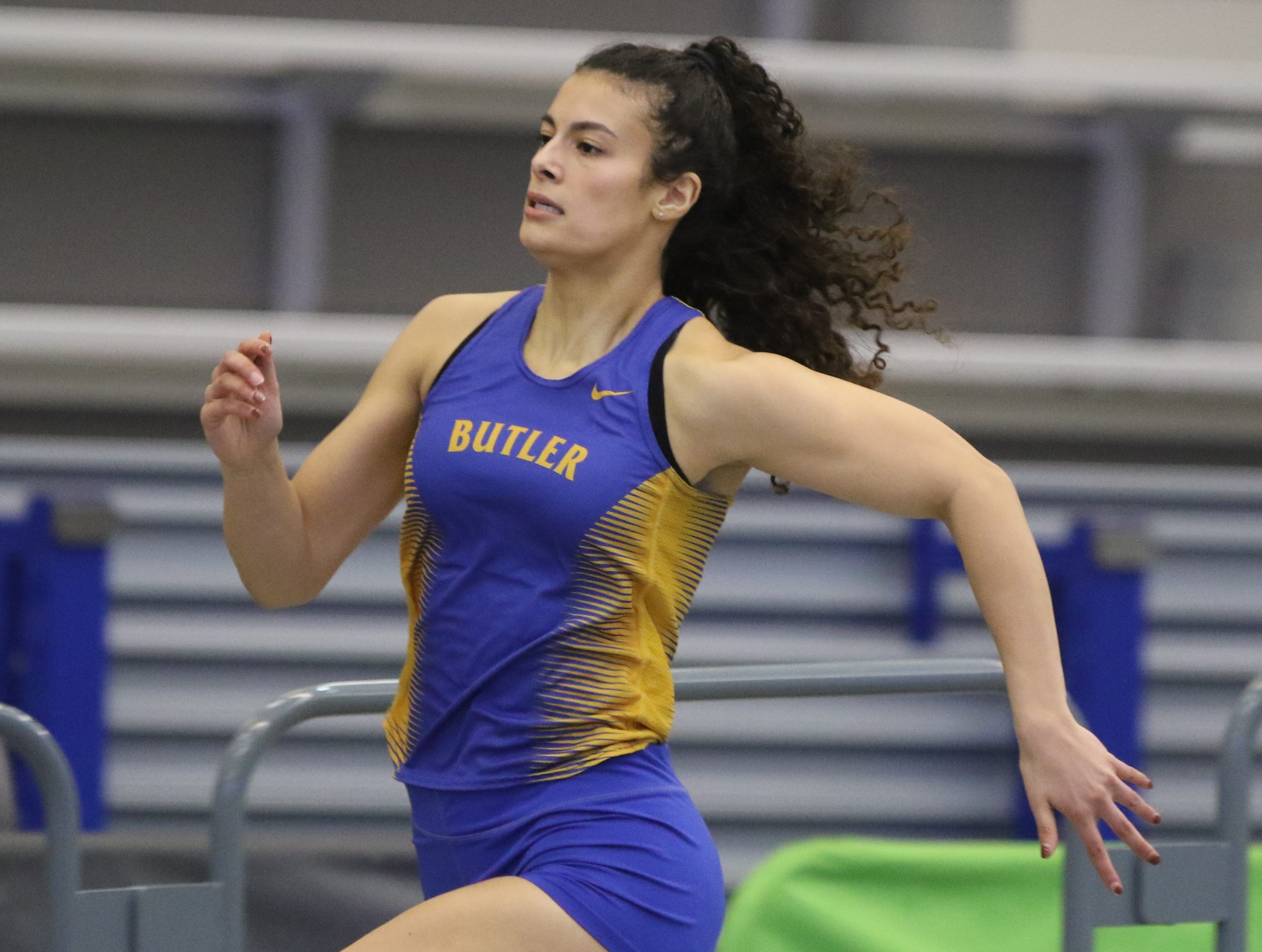 Rebecca Kneppel of Butler in the girls 300 meter run.
