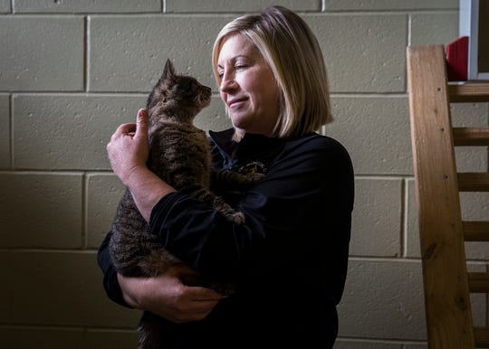 Director Melissa Blair at the Muncie Animal Care and Services facility Thursday afternoon.