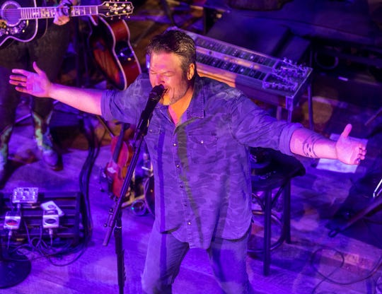 Blake Shelton performs at Ole Red on Lower Broadway Wednesday January 23, 2019.