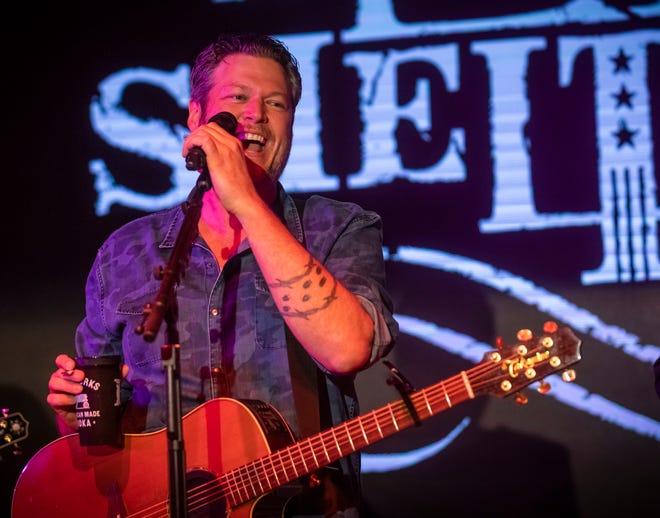 Blake Shelton performs at Ole Red in Nashville on Jan. 23.