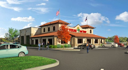 A rendering of a Texas Roadhouse restaurant that has been approved in Estero.