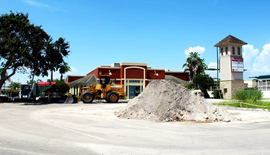 During summer 2016, the parking area near the former longtime Chili's Grill & Bar in the middle of Park Shore Plaza was a staging area for landscaping upgrades and construction materials for a shopping center that was undergoing a complete makeover.