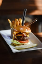 Tavern Custom Blend Burger at The Twisted Elm in Elmwood Park on 01/15/19.