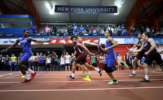 The Bergen County Relays take place at The Armory, in New York City, Wednesday, January 23, 2019.