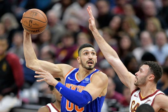 Enes Kanter was released from the New York Knicks on Thursday.