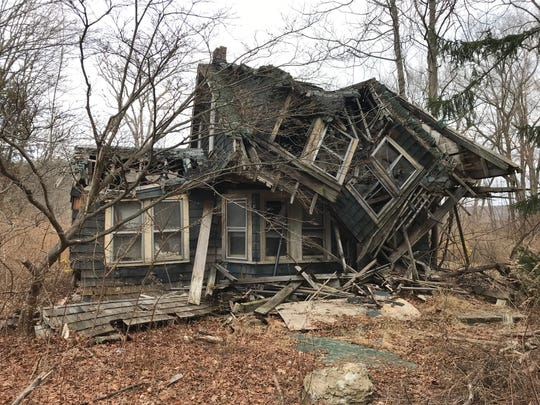 The Stephens House is one of the homes in historic Long Pond Ironworks State Park in West Milford that is collapsing and in need of demolition by the state.