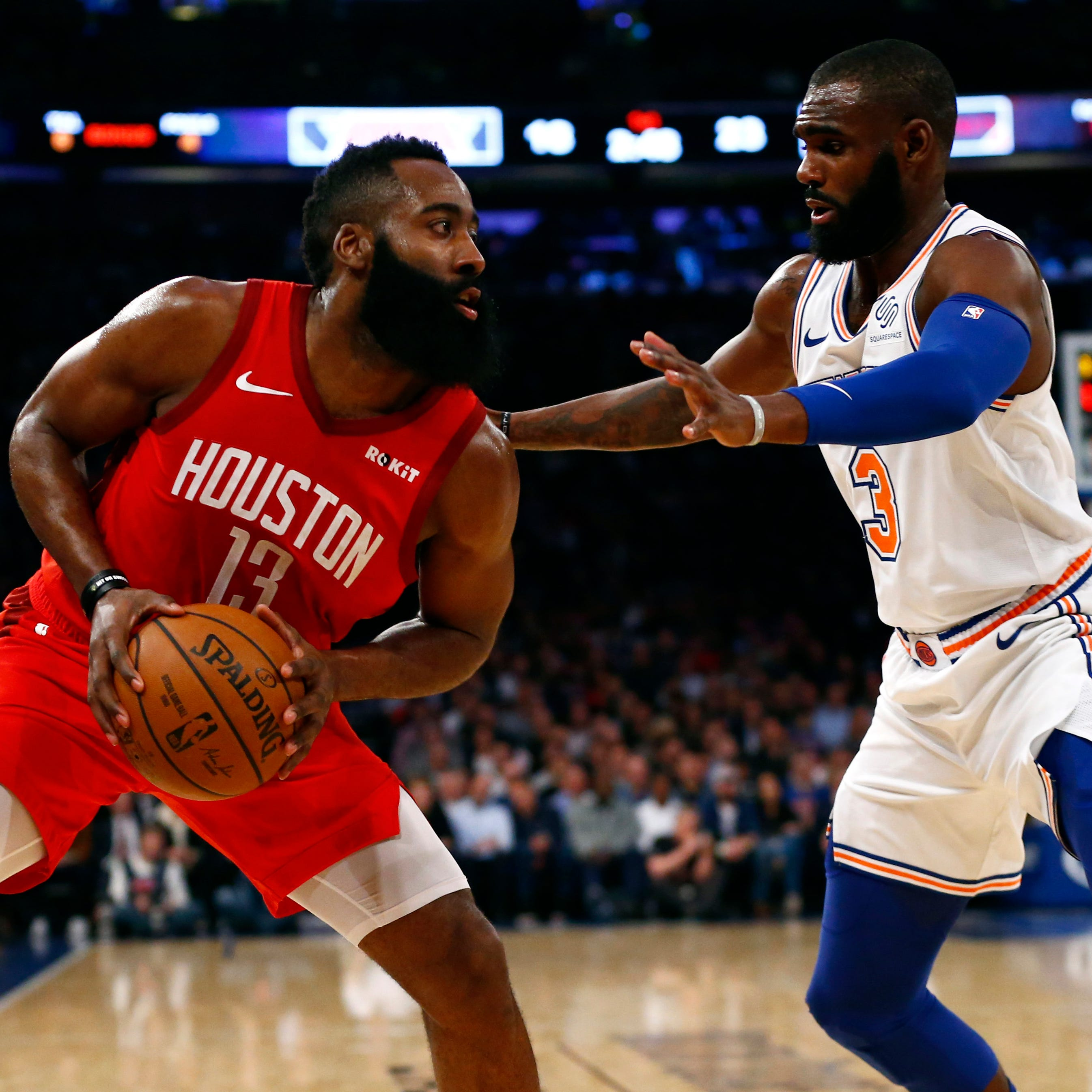 James Harden scores 61 to continue blistering scoring stretch as Rockets fend off Knicks