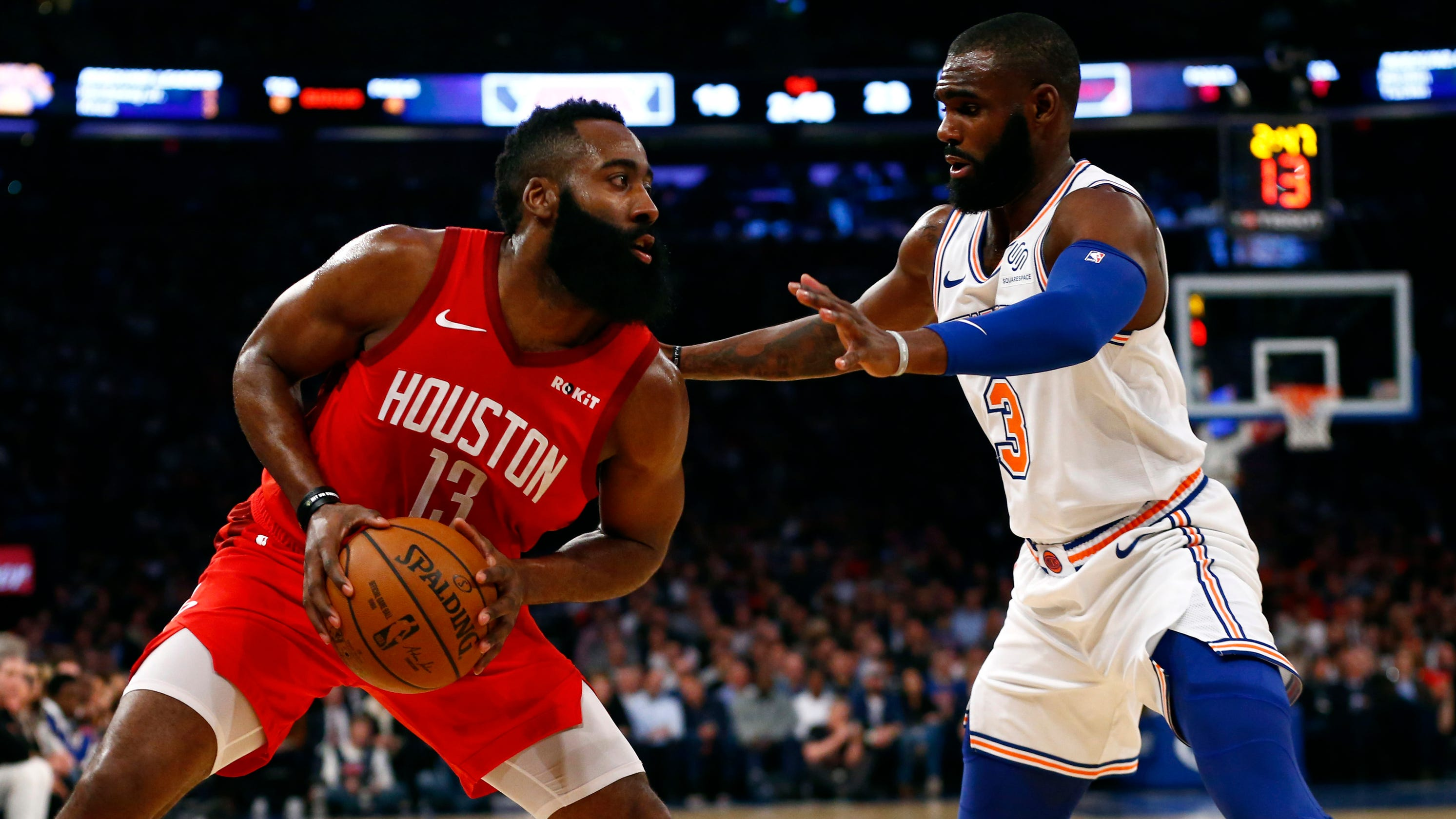 77aea8237994 James Harden scores 61 to continue blistering scoring stretch as Rockets  fend off Knicks