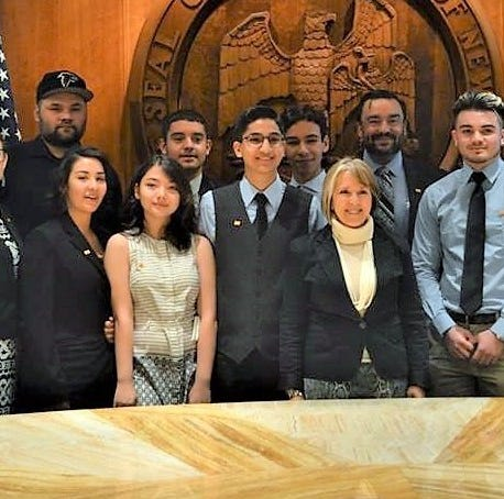 Deming students participate in New Mexico state legislature in Santa Fe