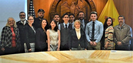 Students from Deming High and the Early College High School visited the Rotunda during the 2019 New Mexico Legislative Session in Santa Fe.