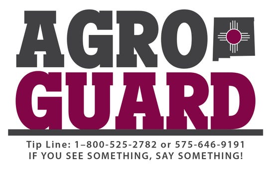AGROGUARD is a community policing program designed by the New Mexico Department of Agriculture's office of bio-security to protect the agriculture industry. As part of AGROGUARD, the Agricultural Reporting Hotline allows anyone to anonymously report suspicious activity within the agriculture community.
