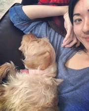 Ayaka Kaneko of Carbondale, Colorado, and her best friend Sophie, a 4.5-year-old female terrier mix.