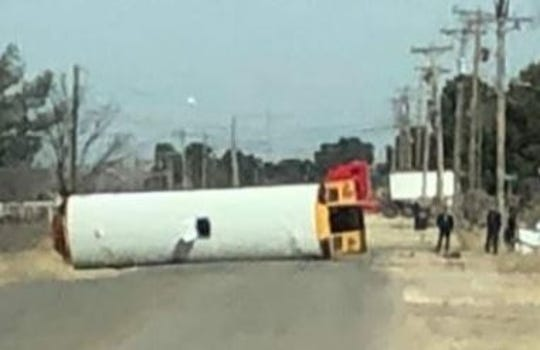 A Valley Transportation school bus rolled over during an accident Jan. 23  south of Carlsbad. Two students, a driver and an aide were on the bus. The aide was flown to Lubbock for advanced care, according to a statement from the bus company.