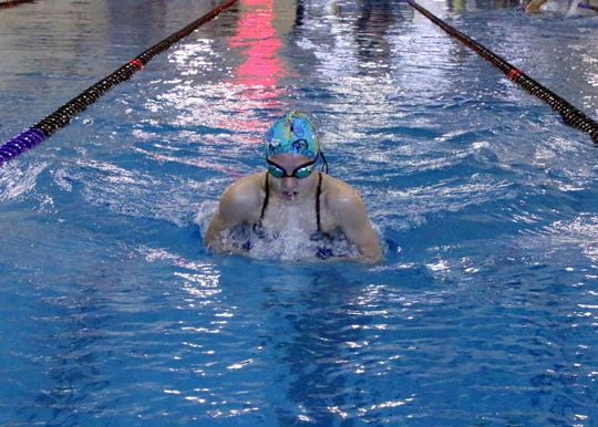 Carlsbad sophomore Emily Dostol swims during a practice session at Carlsbad's Natatorium.