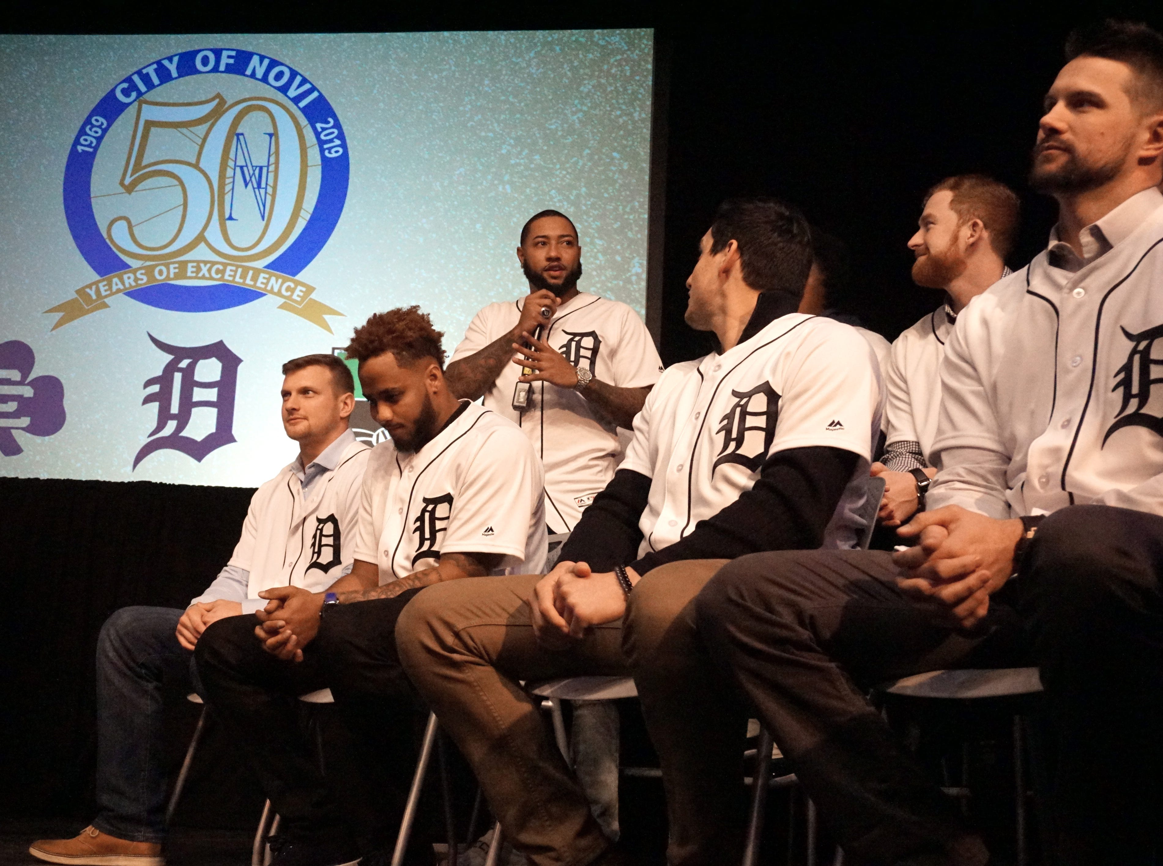 Members of the Detroit Tigers took questions from fans gathered at the Novi Civic Center on Thursday.