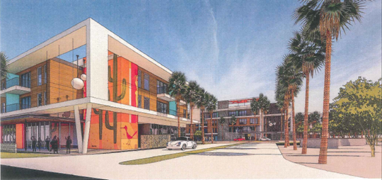 The McDowell apartment complex is planned at 6601 E. McDowell Road, Scottsdale.