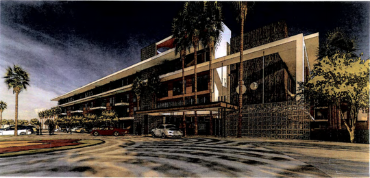 A mid-century modern look is planned for The McDowell apartments in south Scottsdale.