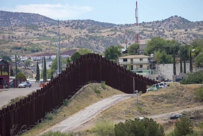 Existing fencing along the Texas-Mexico border.