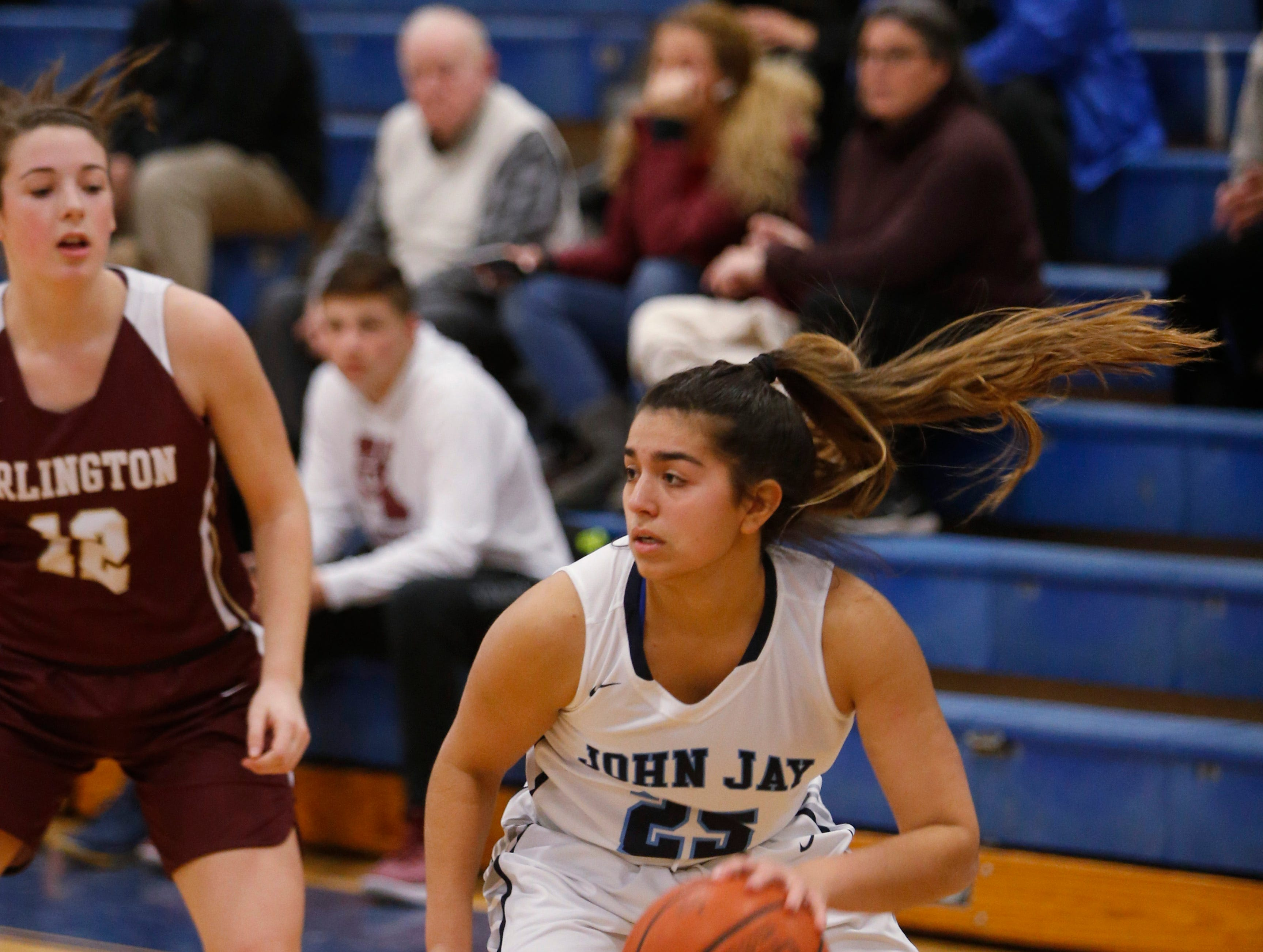 Action from Wednesday's game between John Jay and Arlington in Wiccopee on January 23, 2019.