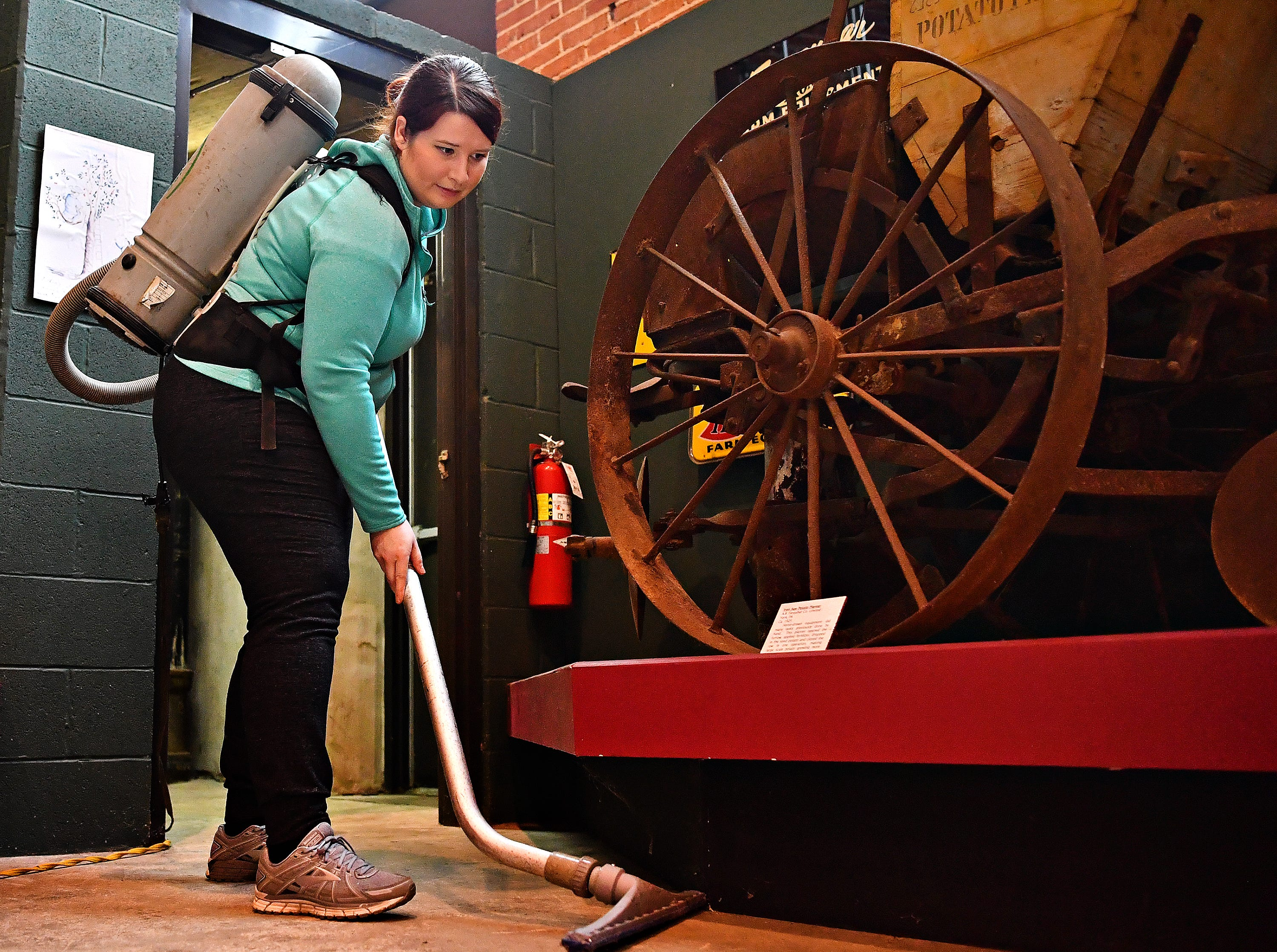 York County History Center staff clean the Agriculture & Industrial Museum in York City, Thursday, Jan. 24, 2019. The museum is one of five under the History Center umbrella, all of which are closed Jan. 22-25 for their annual spring cleaning. Dawn J. Sagert photo