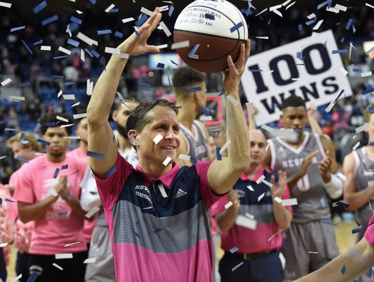 Nevada head coach Eric Musselman is 104-30 in his four seasons leading the Wolf Pack.