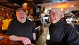 Steve Sahs and Jim Barnash, owners of The Reunion Inn, reminisce about the place they've owned since 1971. It will be sold this month.