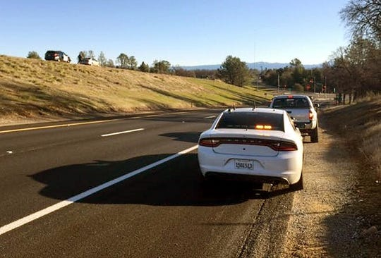 The Redding office of the California Highway Patrol is keeping an eye out for speeders on Highway 299. Here it appears the CHP pulled over two drivers not far from one another Thursday.