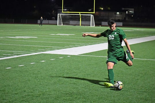 Alisal midfielder Abraham Montaño (20) scored four goals in two games to help the Trojans move up the PCAL-Gabilan league standings and earned Athlete of the Week honors.