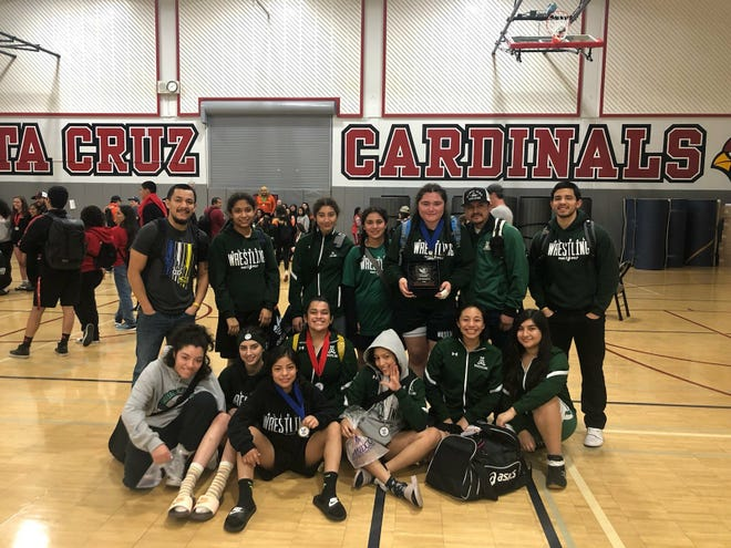 The Alisal Trojans girls' wrestling team took second in the inaugural Santa Cruz Ladies Coast Classic tournament as girls' Athlete of the Week Luz Castillo won the 101-pound bracket.