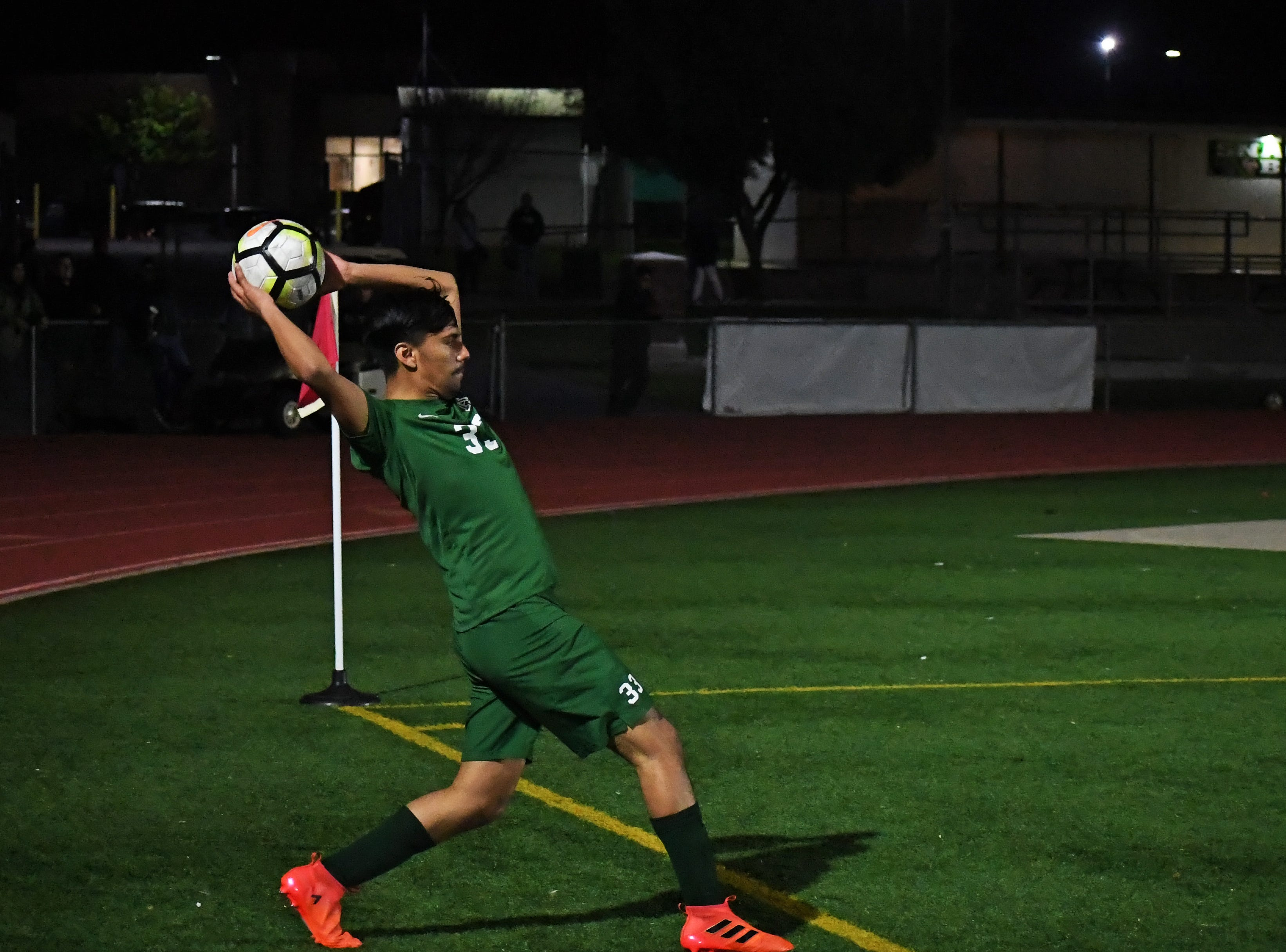 An Alisal forward throws the ball inbounds.